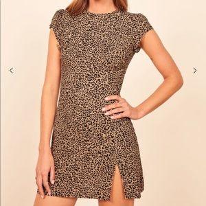 Reformation Lena Leopard Dress size 8